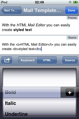 HTML Mail Editor