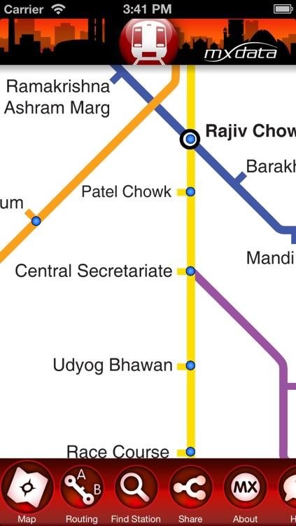 Delhi Metro - Map and Route Planner screenshot-4