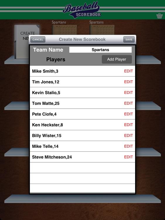 Baseball Scorebook