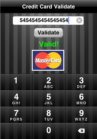Credit Card Validate