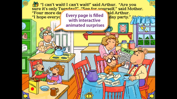 Arthur's Birthday – Wanderful interactive storybook in UK English and French screenshot-3