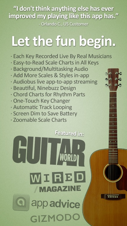 Guitar Jam Tracks: Acoustic Blues - Free Scales App screenshot-4