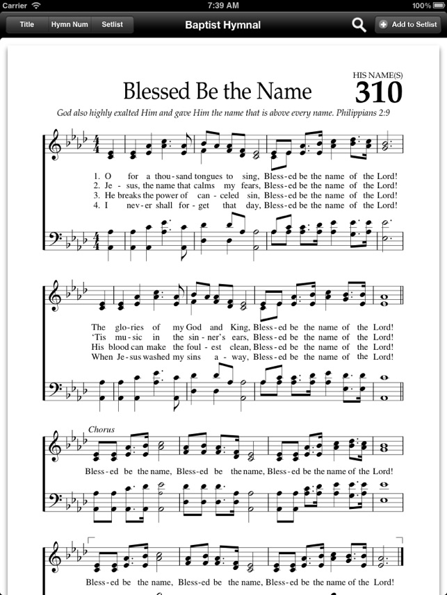 Baptist Hymnal Free on the App Store