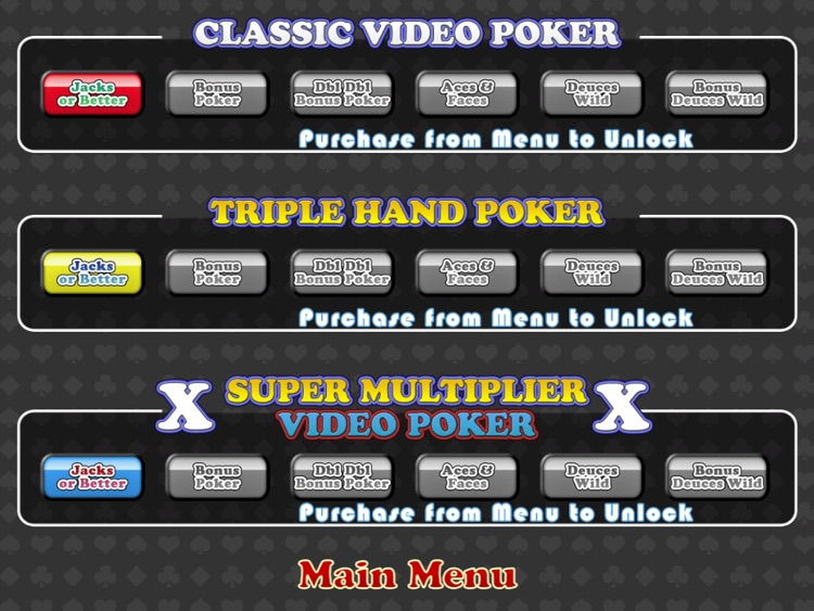 Mojo Video Poker HD screenshot-3