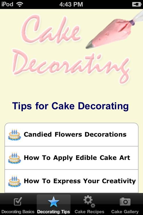 Cake Decorating Tips