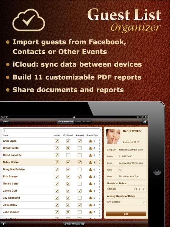Guest List Organizer HD