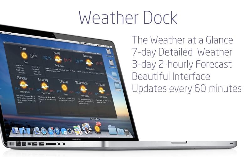 Screenshot #1 for Weather Dock+ Desktop forecast