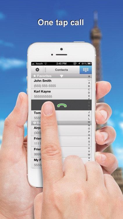 Swipe To iMessage or SMS - Tap to Call & Facetime - By ReachFast Contacts screenshot-3