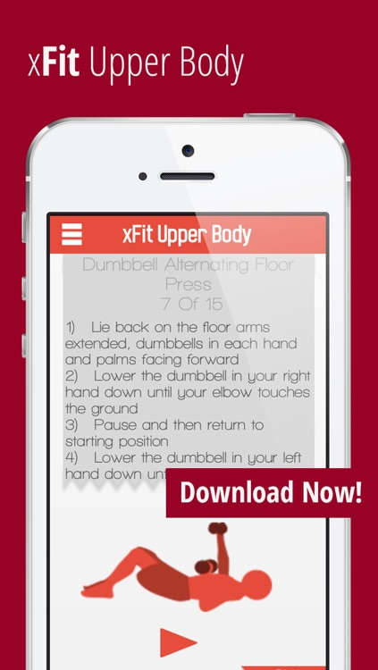 xFit Upper Body – Daily Workout for Sexy Lean Chest, Back and Arm Muscles screenshot-4