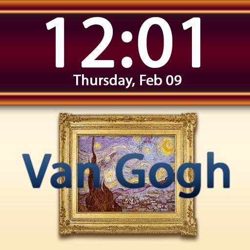 Clockscapes Vincent Van Gogh - Animated Clock Display