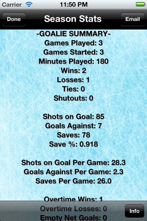Hockey Stats Tracker Touch screenshot-4