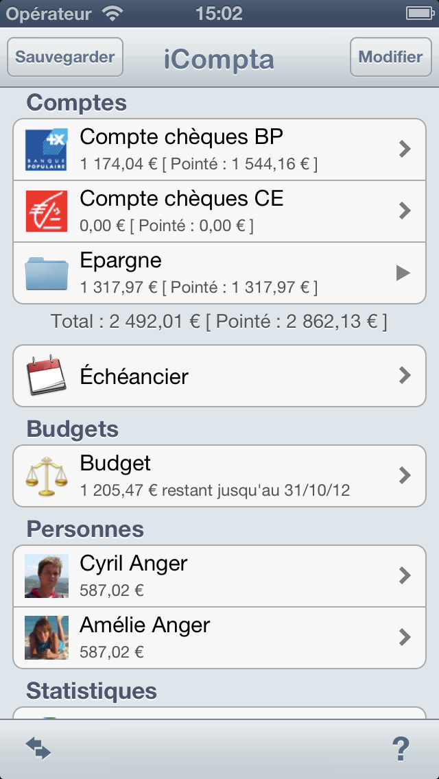 iCompta 2 screenshot one