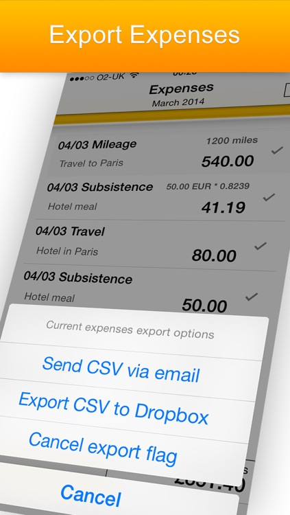 iExpenses - business travel expenses screenshot-3
