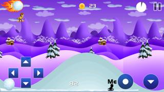 Carreras de nieve 2 : snowboarder superiores gratis los mejores juegos de arcada jinete con un fresco divertido multijugador saltos de esquí - la mejor diversión snowboard correr deporte dibujos animados App para NiñosCaptura de pantalla de5