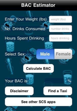 Blood Alcohol Content Calculator