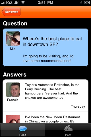 iAnswer - ask a Question screenshot-0
