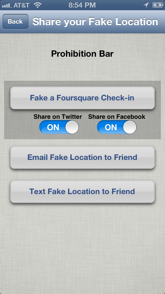 Fake-A-Location Free ™ Screenshot