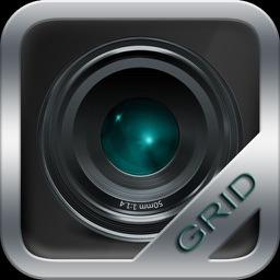 Grid Cam - grid with spirit level