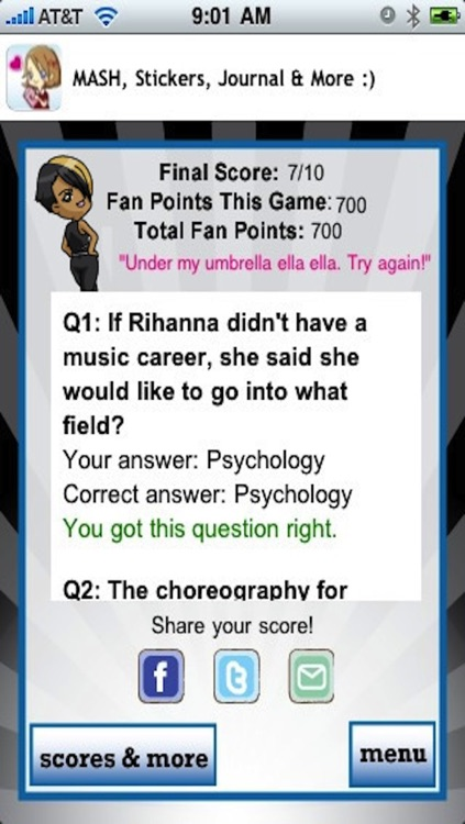 Rihanna Quizzle™ screenshot-4
