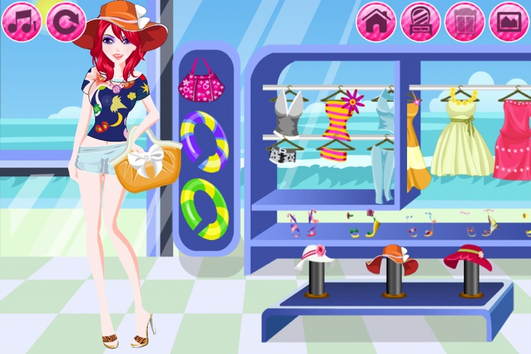 Beach Fashion Lite - Dress up and Makeup Game screenshot-2