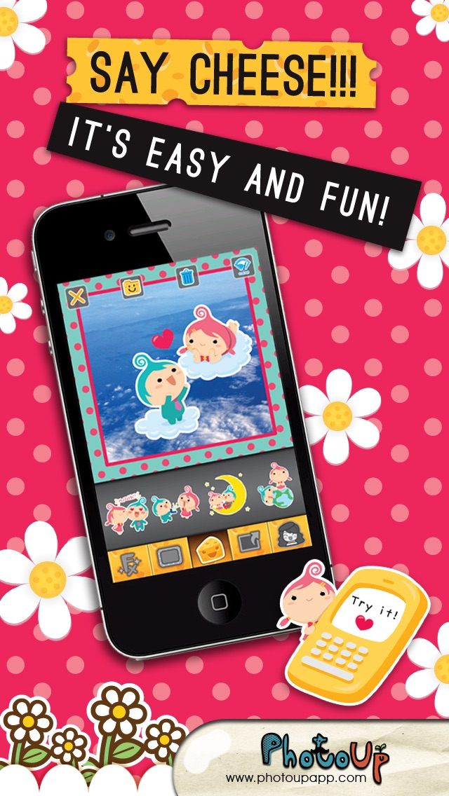 CAM CHEESE  by PhotoUp - cute sticker for decorate photos Screenshot on iOS