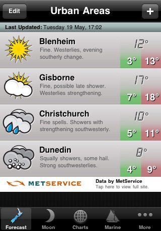 WeatherNZ screenshot four