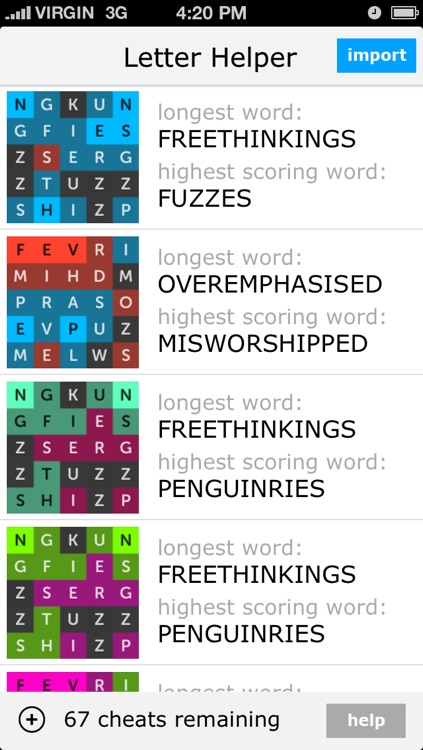 Letter Helper - Free Cheats For Letterpress