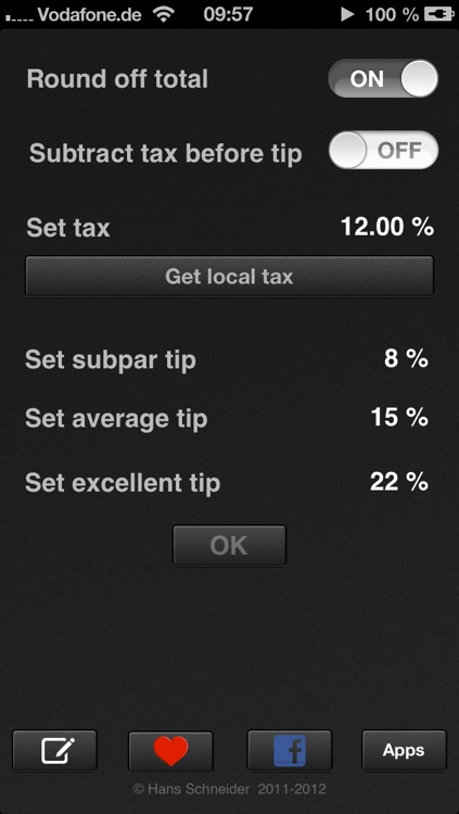 Tip calculator 'Tipping made easy' screenshot-1