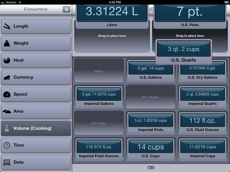 Converter for iPad (units and currencies)