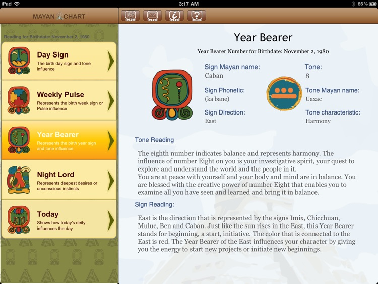 MayanChart - Mayan signs, astrology & horoscopes screenshot-3