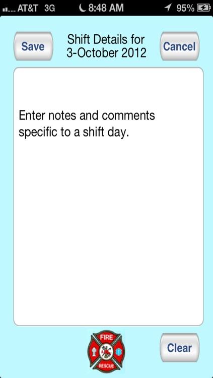 Shift Calendar Kelly
