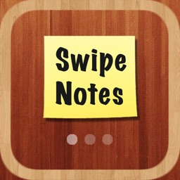 Swipe Notes - Sticky Notes with Your Inspirational Background