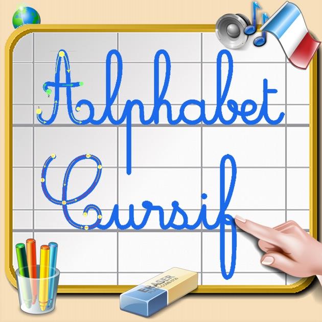 Alphabet cursif pour apprendre crire les lettres cursives on the app store - Z en majuscule ...