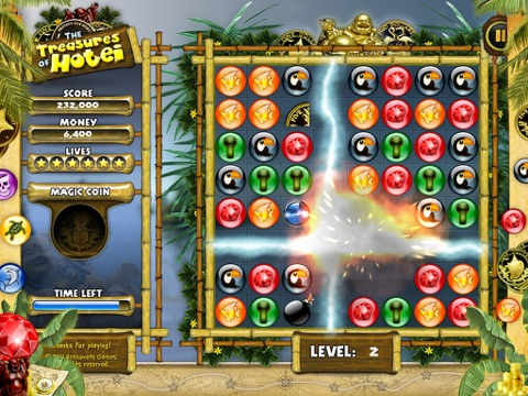 Treasures of Hotei for iPad - Free match 3 puzzle game | App