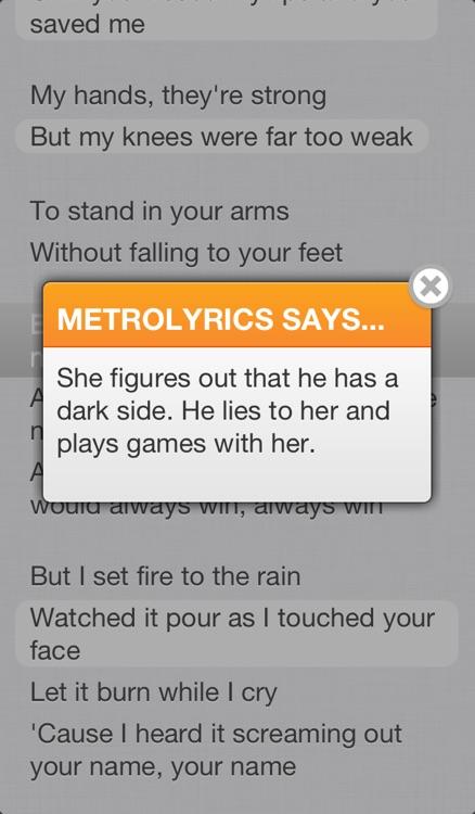 MetroLyrics screenshot-3
