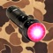 "Hunting Light & Blood Tracker is a handy hunting flashlight that provides screen lights of various colors for specific uses in the field to give hunters improved visibility in variable light conditions PLUS the addition of a ""blood tracking"" light filter that enhances the visibility of a blood trail left by wounded game"