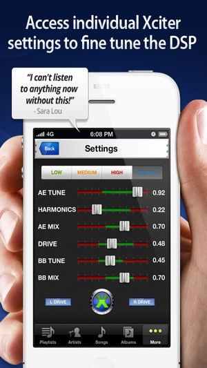 Audio Xciter - DSP Enhanced Music Player on the App Store