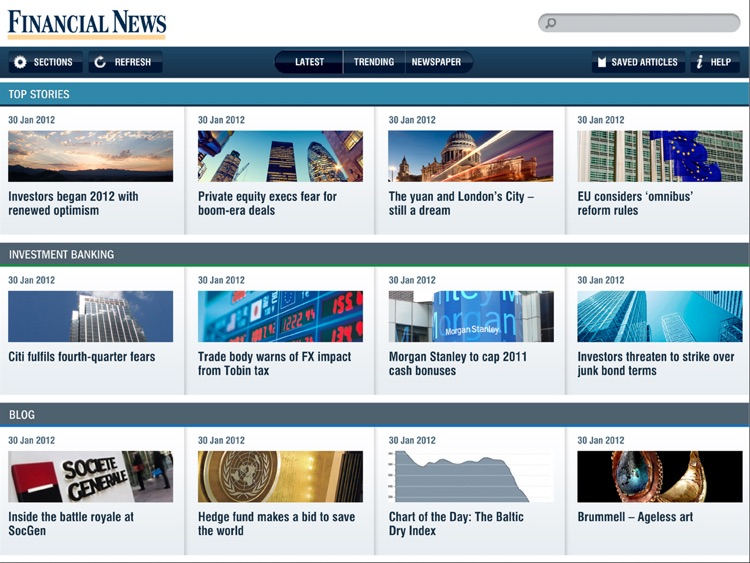 Financial News for iPad