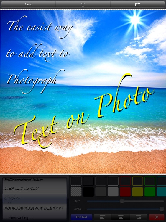 Text on Photo for iPad 〜Label, Caption, Title on Photos〜