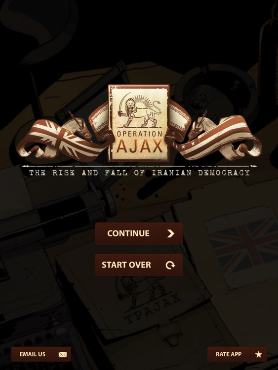 CIA : Operation Ajax the Interactive Graphic Novel for iPad screenshot-0