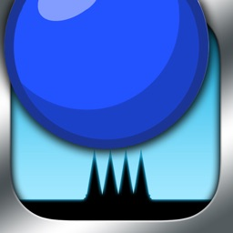 Blue Bouncing Ball Spikes - Night Run