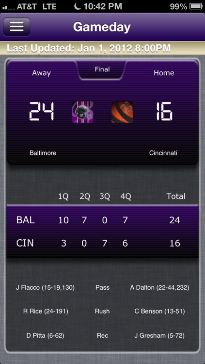 Baltimore Football Live screenshot-0