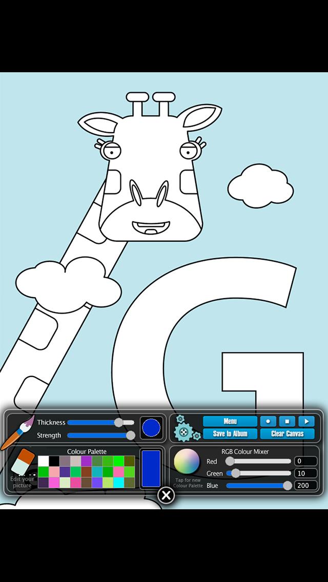 Bookee's Animal Alphabet Colouring Book screenshot three