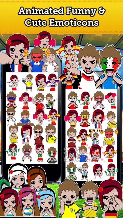 Emoji World Soccer Fan Free screenshot-4