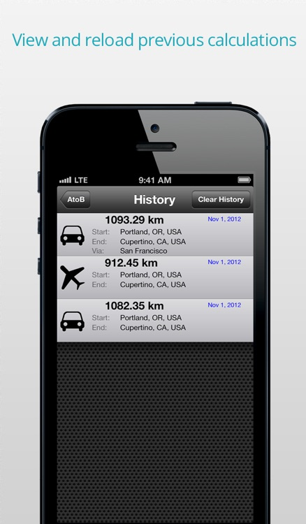 AtoB Distance Calculator Free - easy and fast air or car route measurement from A to B for travel and more screenshot-4