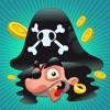 海で海賊、キャプテン、オウム、宝箱、ワニ船と幼稚園、保育園や保育所のためのゲームやパズル:海賊約子供の年齢2-5のためのゲーム!