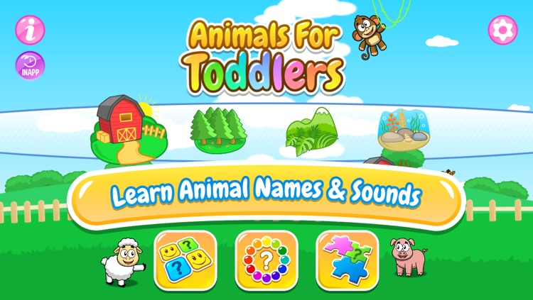 Animals for Toddlers: Match'em - Puzzle, Guess the Colors and Card Matching Memory Game for Kids