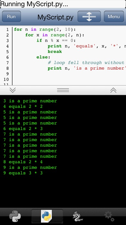 Python 2.7 for iOS screenshot-2