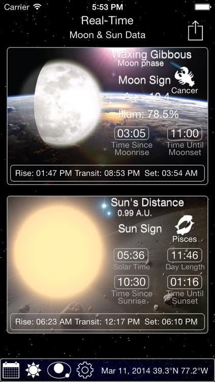 Solar Moon - Phase Calendar & Sun Info Tracker