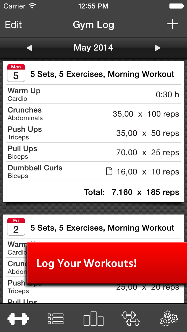 Gym Log Ultimate Pro - Plan and log workouts with the best fitness trackerのおすすめ画像1